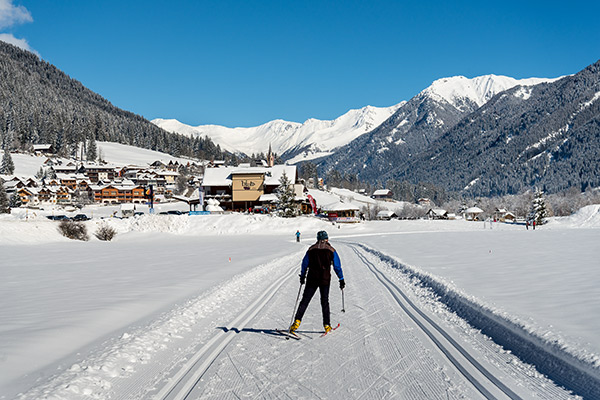 Cross country skiing in Val di Casies