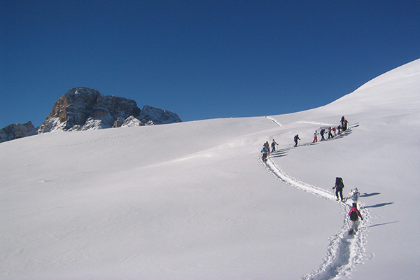 Snowshoe hiking tour